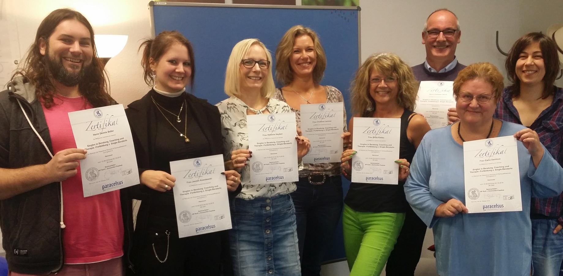 Singles in Beratung Coaching Therapie Abschluss